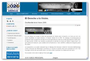 Sitio Web VISIÓN 2020 Latinoamérica