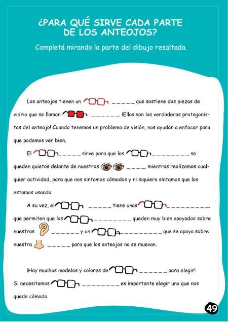 para que sirve cada parte de los anteojos?